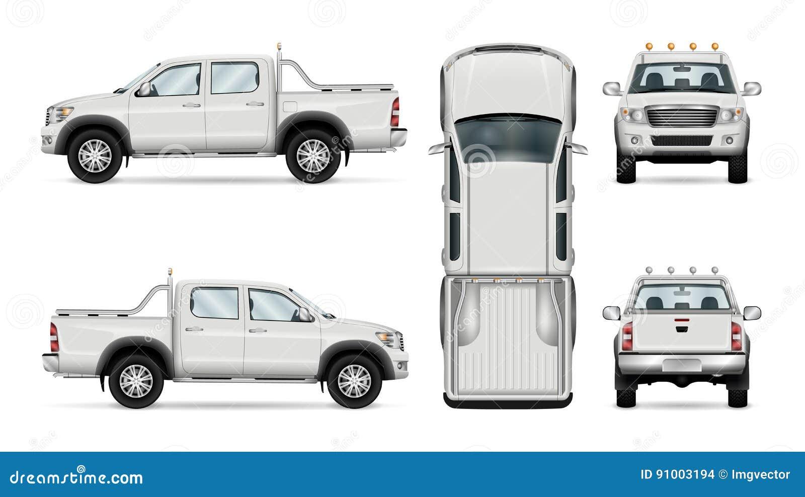 camioneta pickup del vector en el fondo blanco ilustraci u00f3n