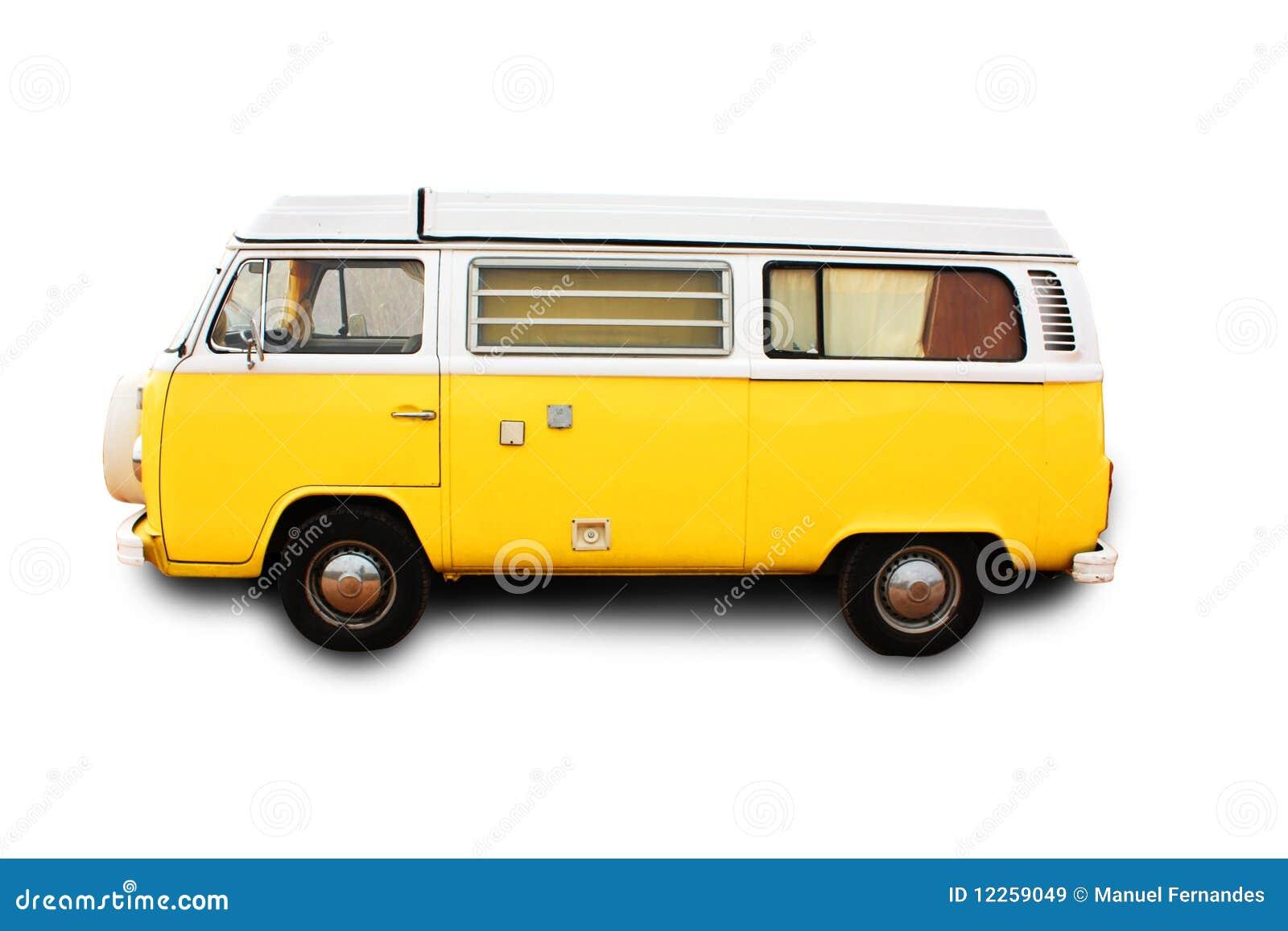 Camionete retro amarela