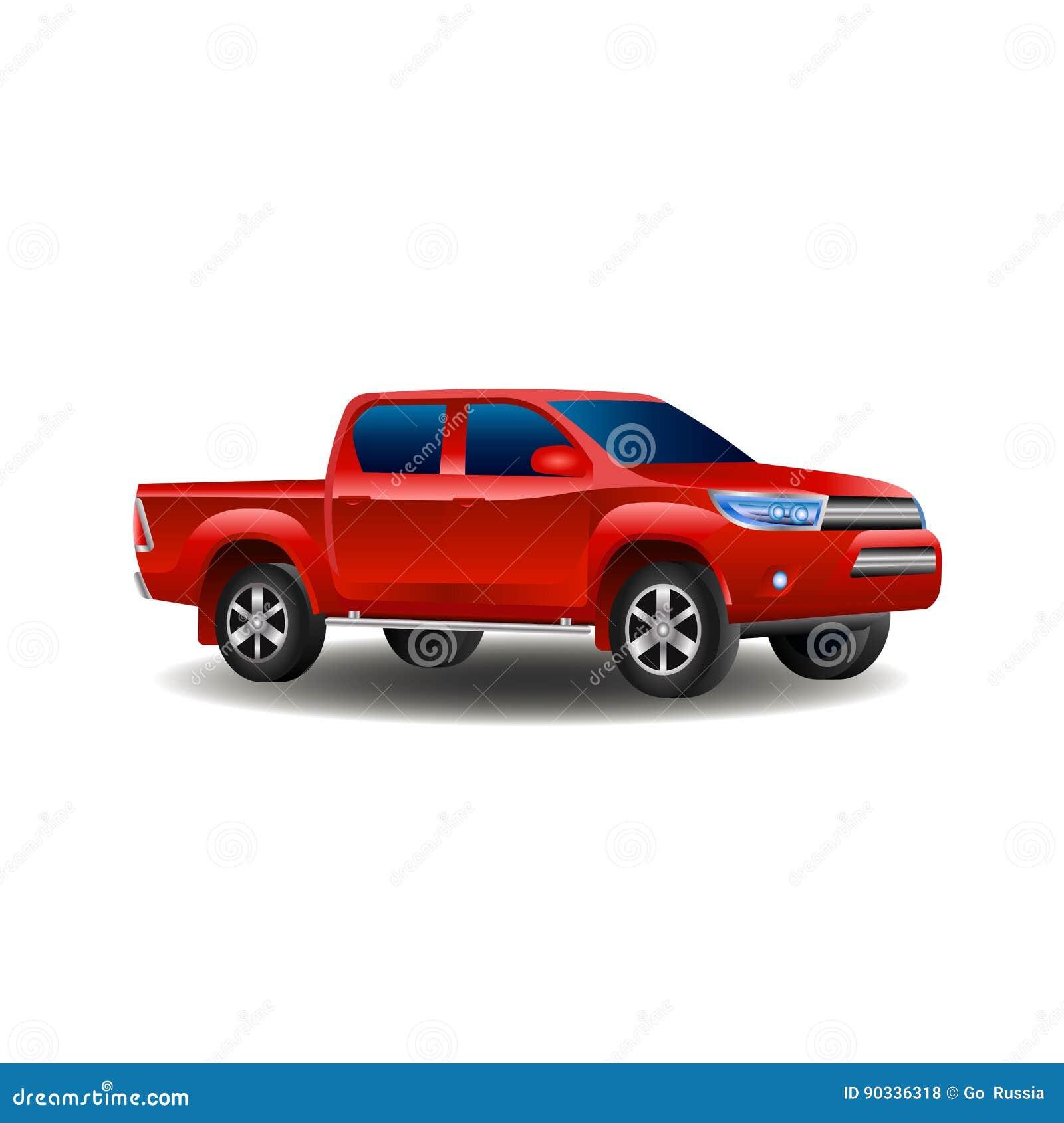 Camionete Vermelho 4x4 Isolado Na Ilustracao Branca Do Vetor Do Fundo Ilustracao Do Vetor Ilustracao De Camionete Vermelho 90336318
