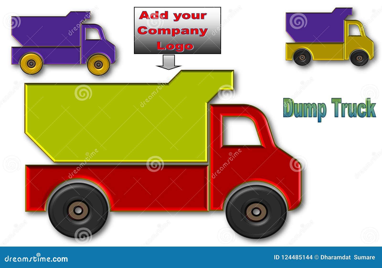 Camions à benne basculante avec l espace pour le logo et la publicité