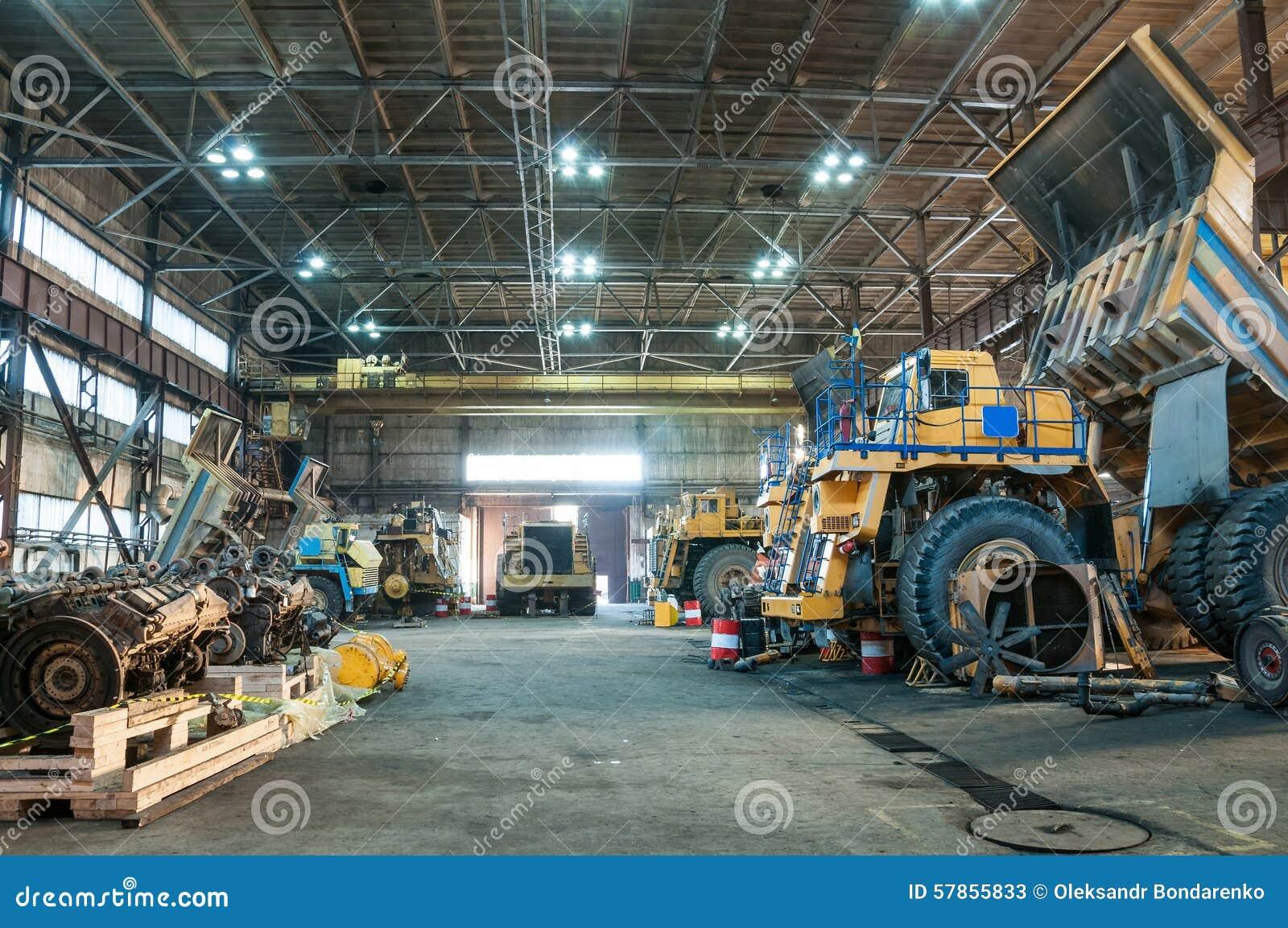 Camions aux réparations