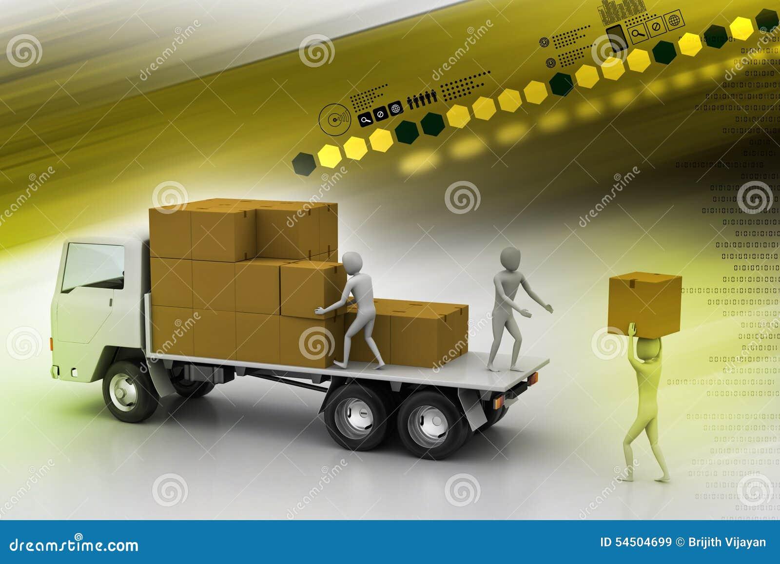 Camions de transport dans la livraison de fret