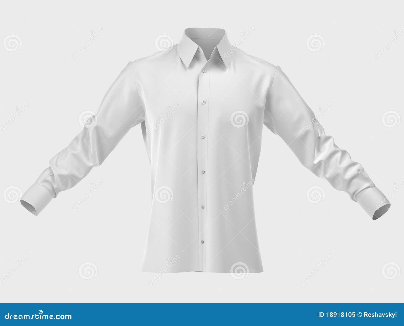 93562c2e33 Camisa De Seda De Los Hombres Aislada En Blanco. Imagen de archivo ...