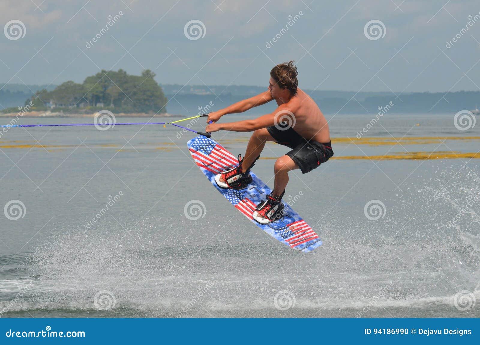 Camisa de Wakeboarding menos individuo