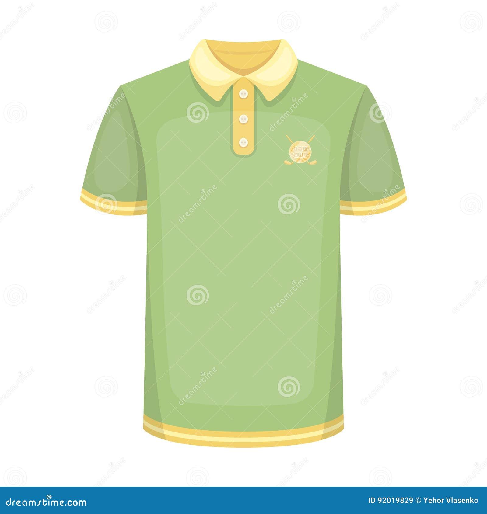 de3f4f88afc6d Camisa uniforme para o golfe Ícone do clube de golfe único na ilustração do  estoque do símbolo do vetor do estilo dos desenhos animados