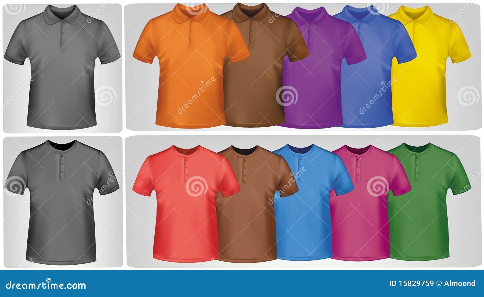 Camisas coloreadas.