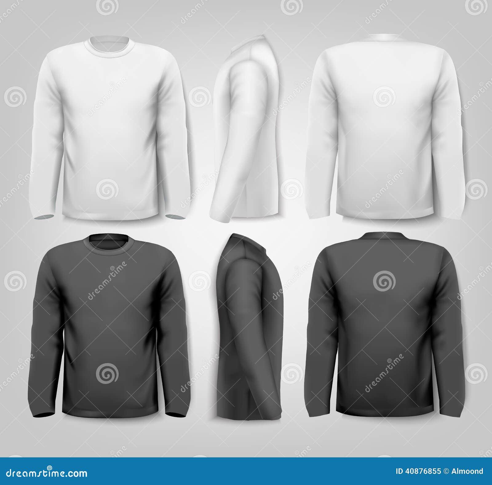 Camisas con mangas largas con el espacio del texto de la muestra