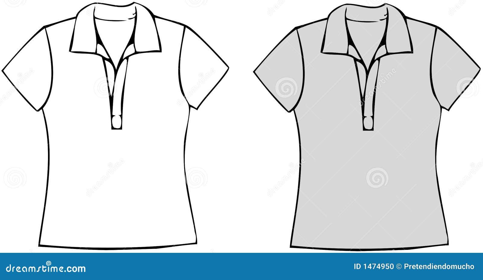 Camiseta en blanco stock de ilustración. Ilustración de tela - 58345