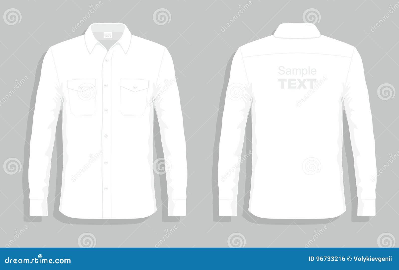 Camisas De Vestir Blancas Ilustración Del Vector