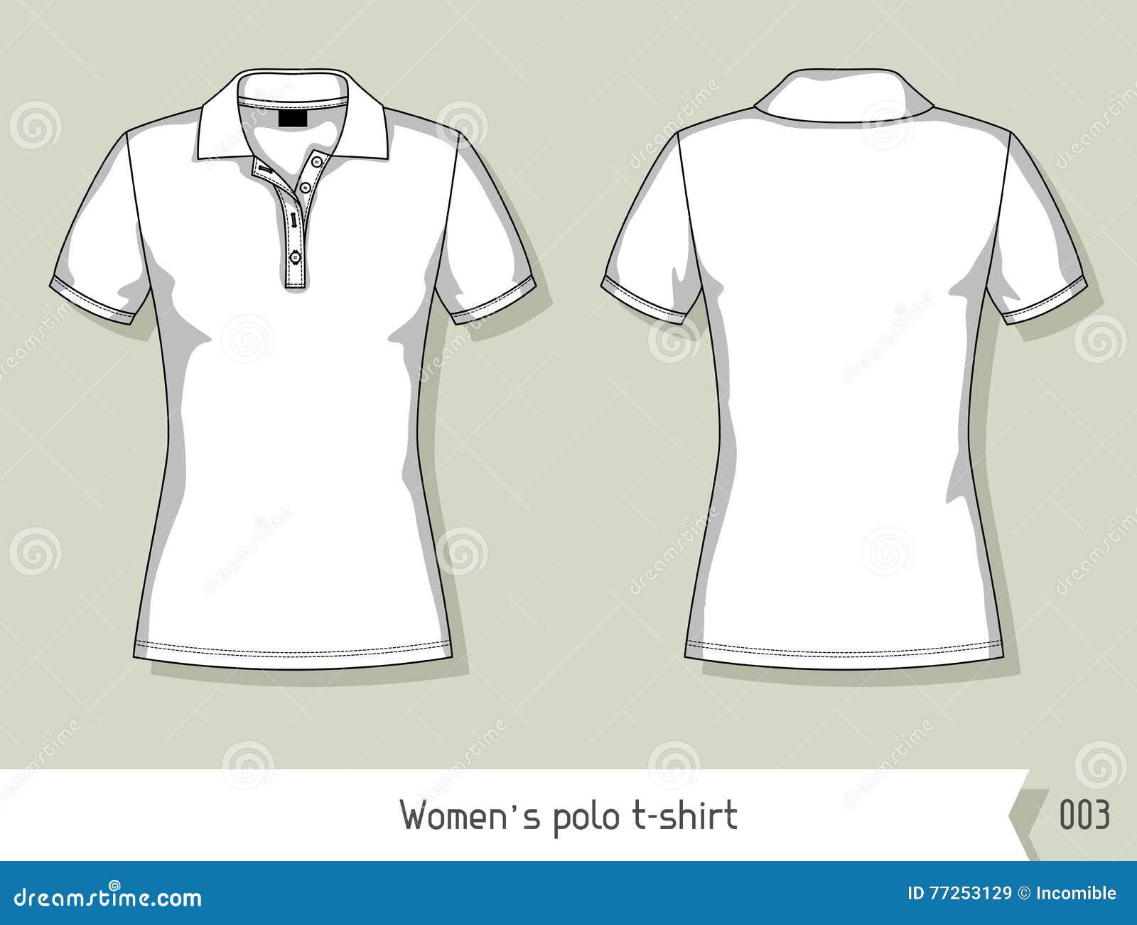 Camiseta Del Polo De Las Mujeres Plantilla Para El Diseño ...
