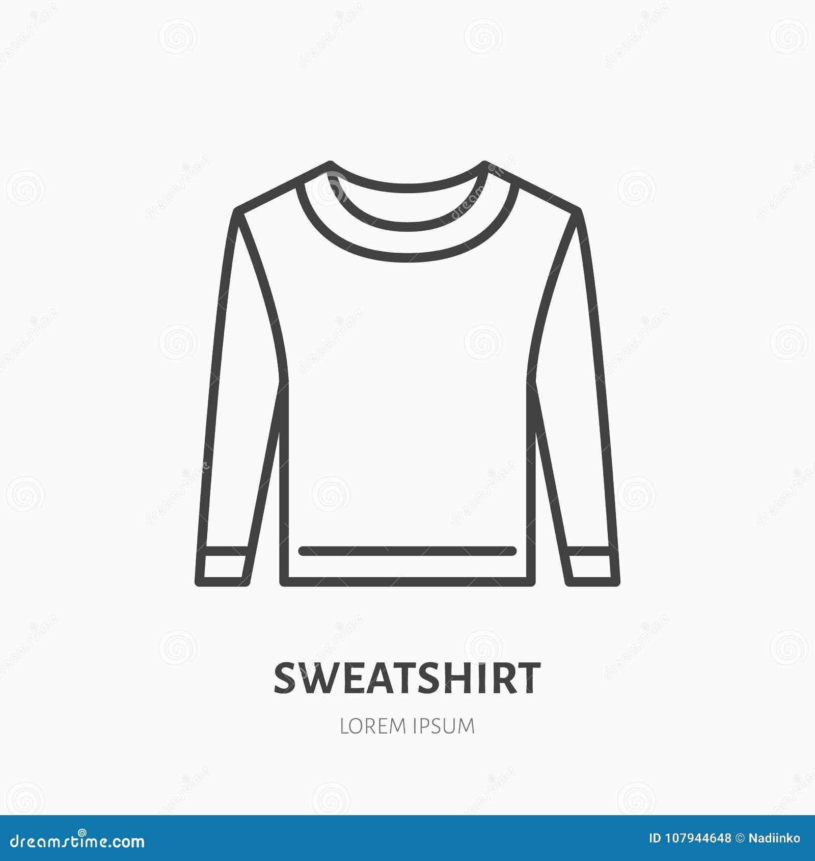 Camiseta, linha lisa ícone da camiseta Sinal da loja de fato ocasional Logotipo linear fino para a loja da roupa