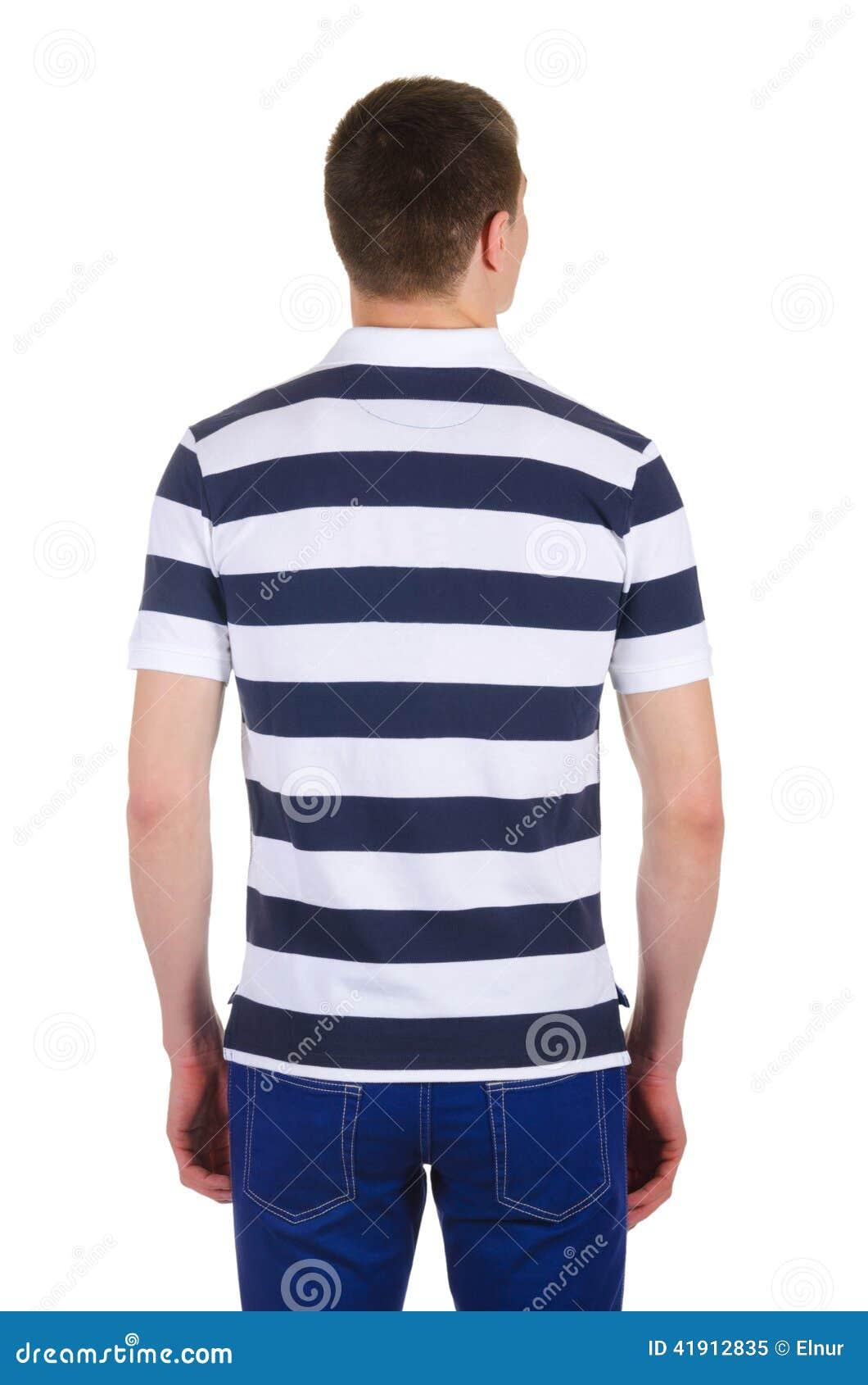 Camiseta masculina aislada