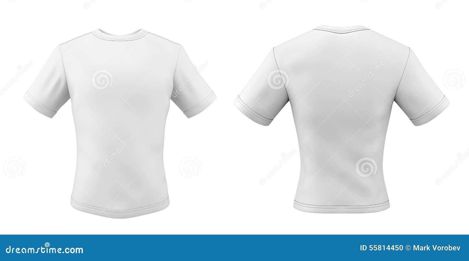 Camisetas Frente Y Parte Posterior De Las Plantillas Para Su Diseño ...