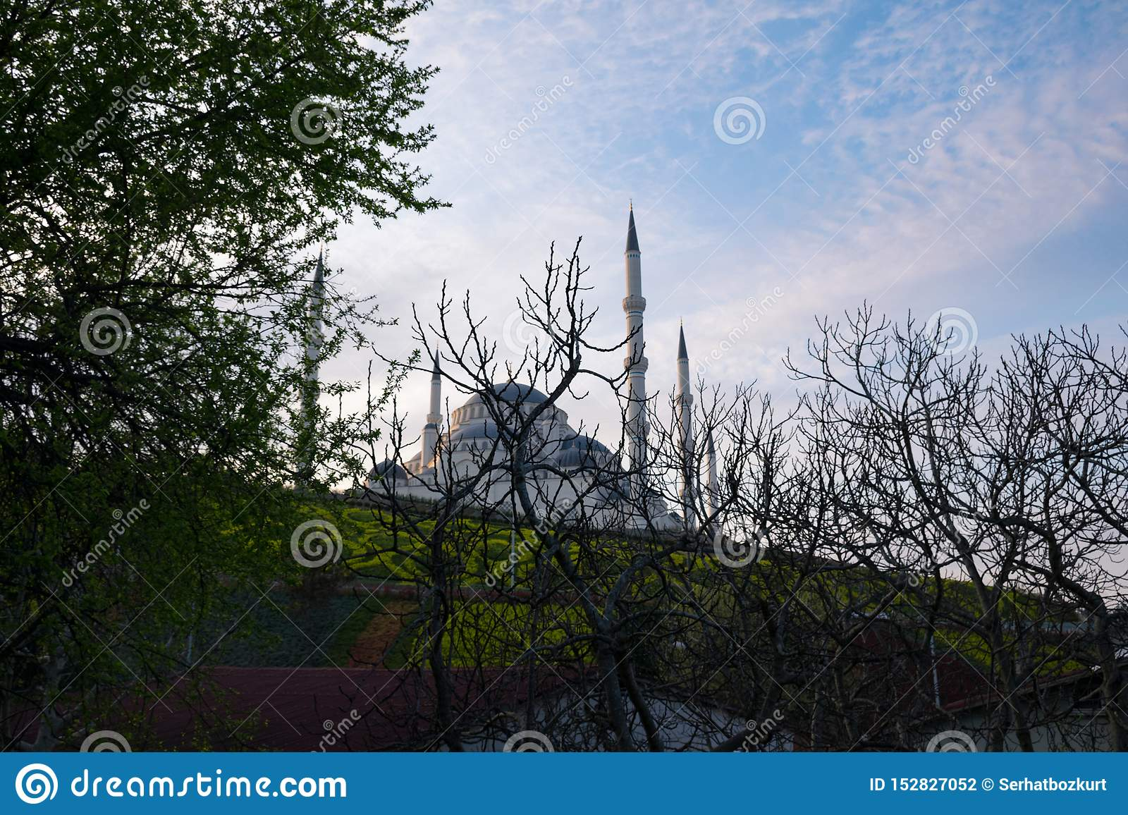 Camlica Mosque from different angles. Photo taken on 29th March 2019, İstanbul, Turkey