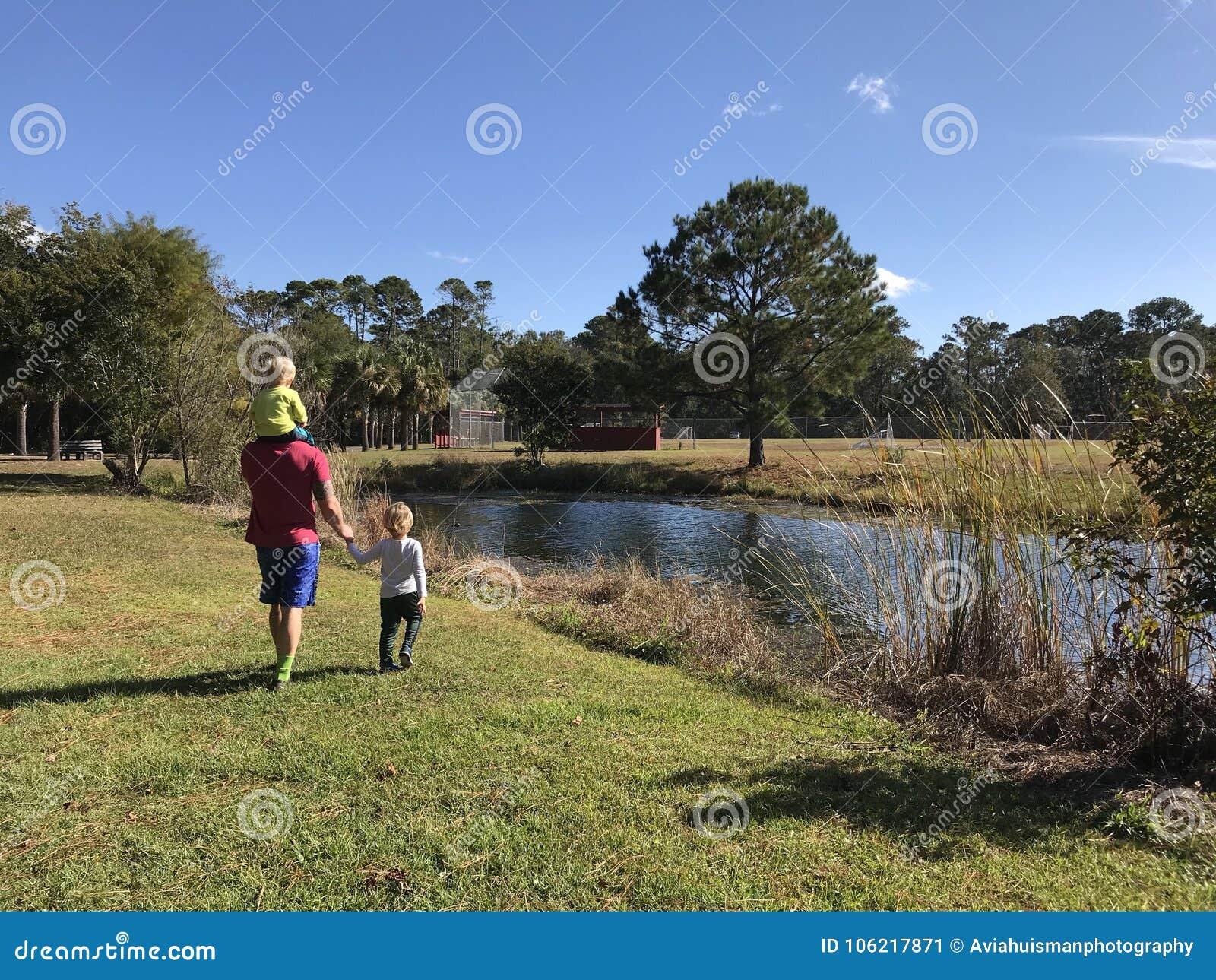 Camminando con il papà