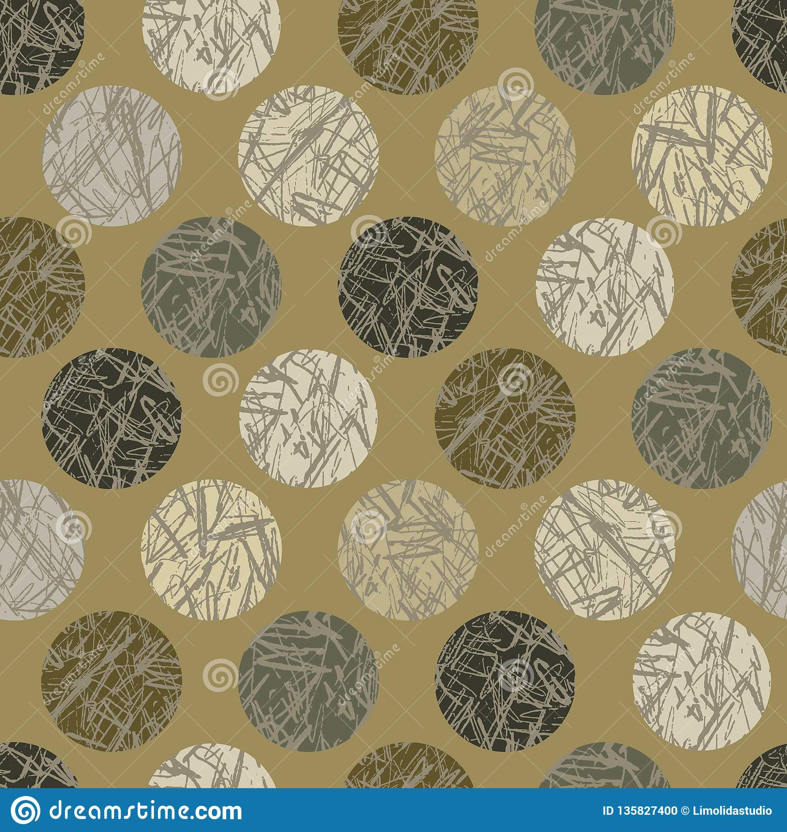 Camo texturpolka Dots Seamless Vector Pattern Background