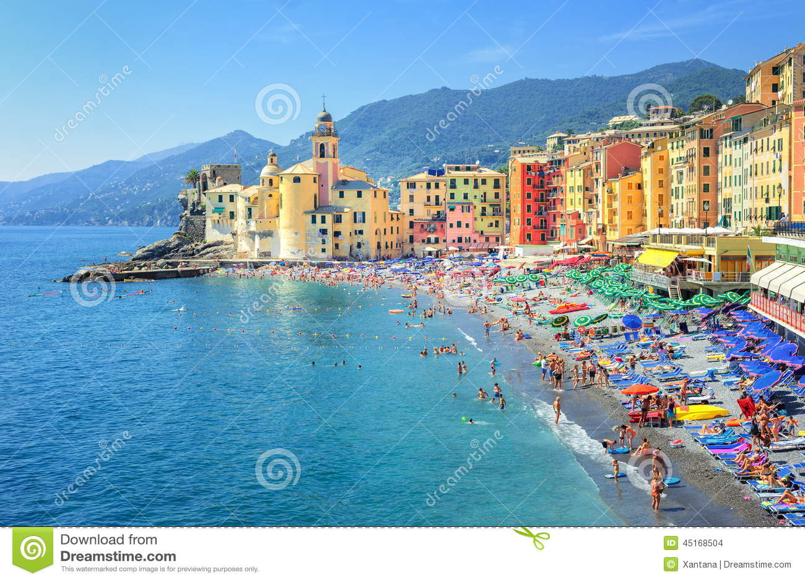 Préférence Camogli, Gênes, Italie photo stock. Image du noble, méridional  CP95