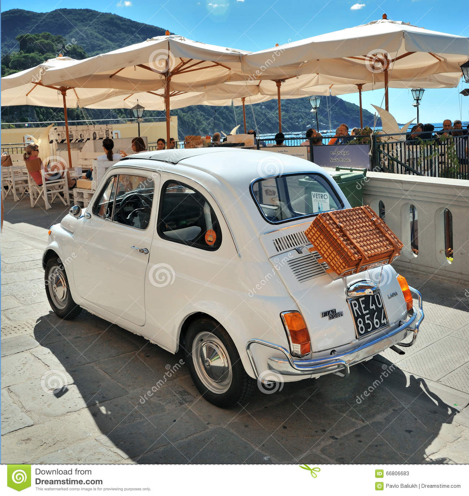 Camogli Liguria Italy September 20 2015 Festival Fiat 500