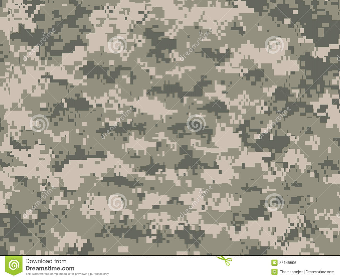 Camouflage Pixels Stock Vector Illustration Of