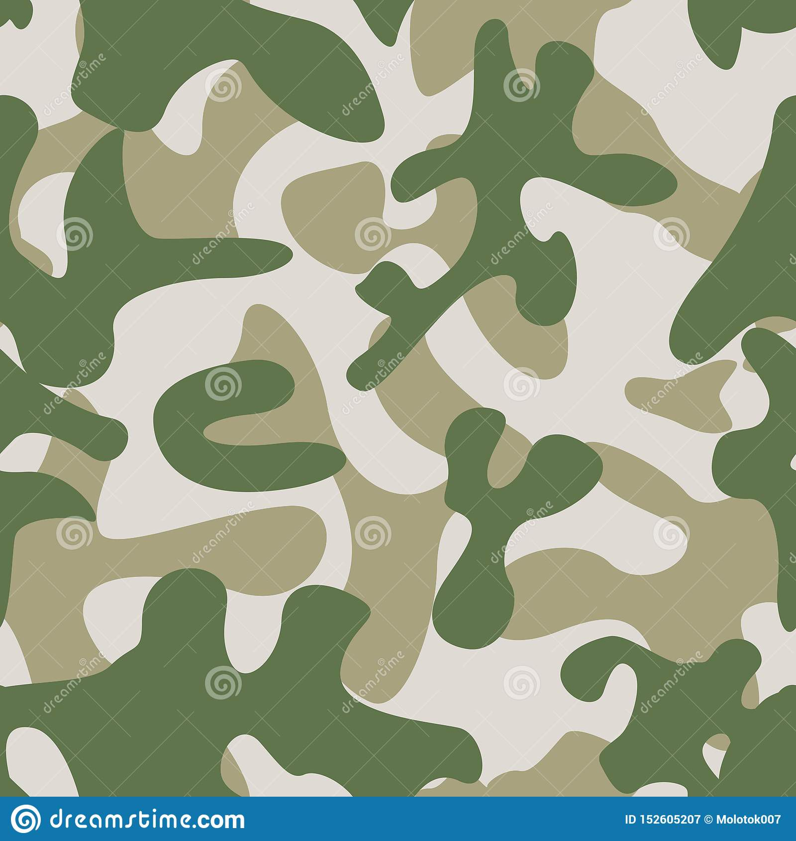 Camouflage Seamless Pattern. Abstract Modern Military Backgound