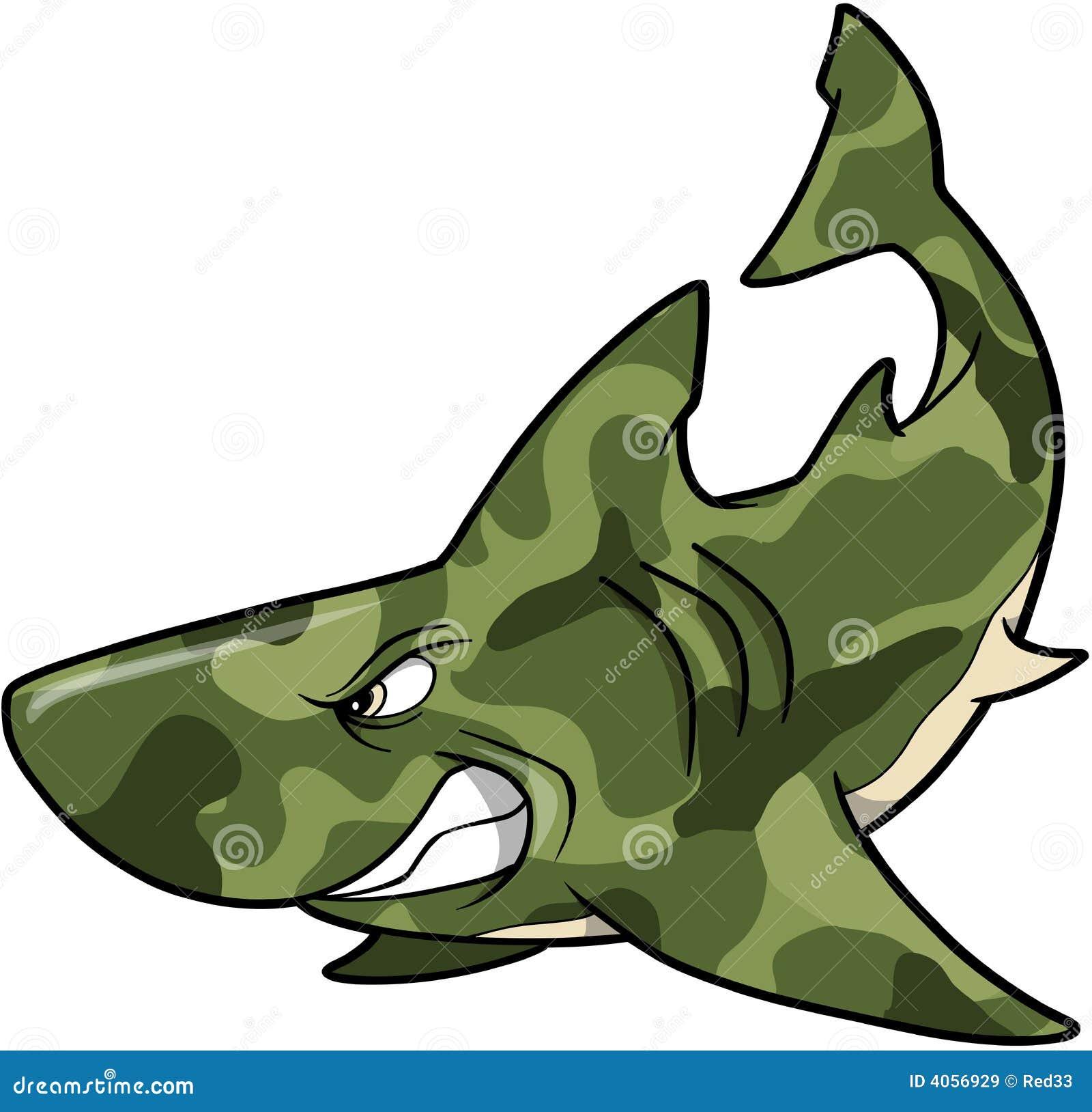 camouflage shark stock vector illustration of illustration 4056929 rh dreamstime com Happy Animal Clip Art Bird Clip Art