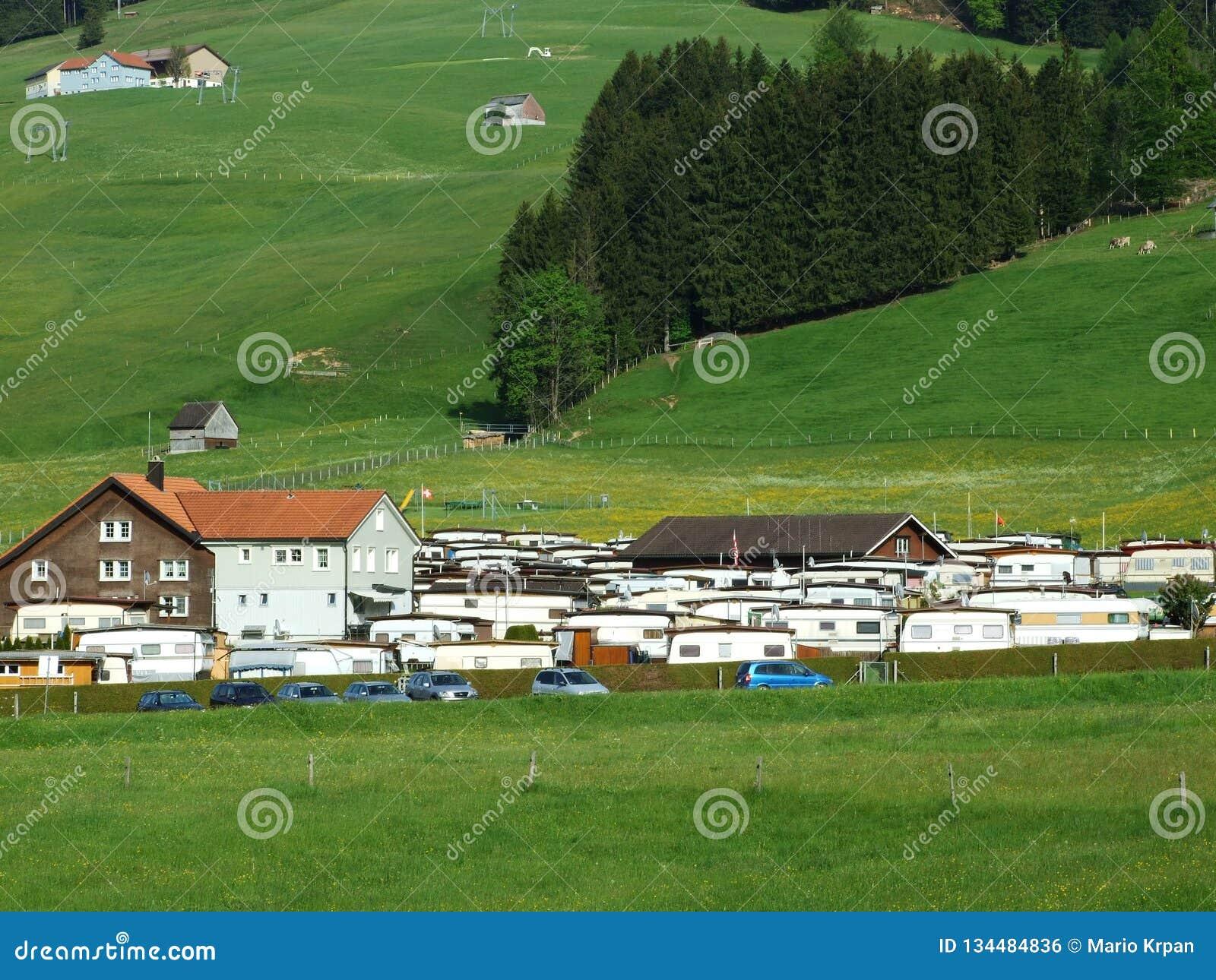 Camp automatique chez Jakobsbad - canton d Appenzell Ausserrhoden