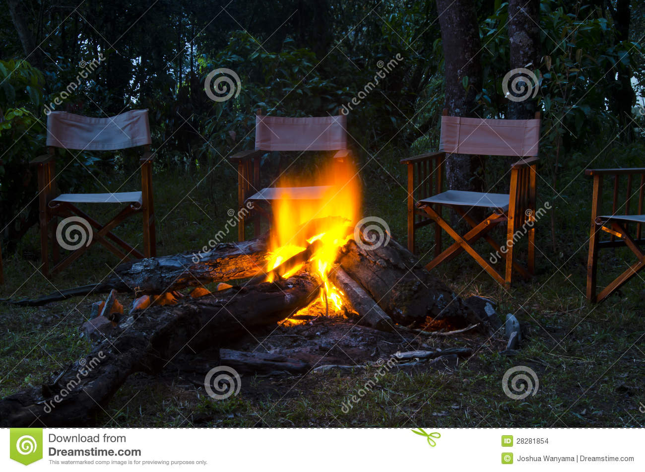 Camp Fire Stock Images Image 28281854