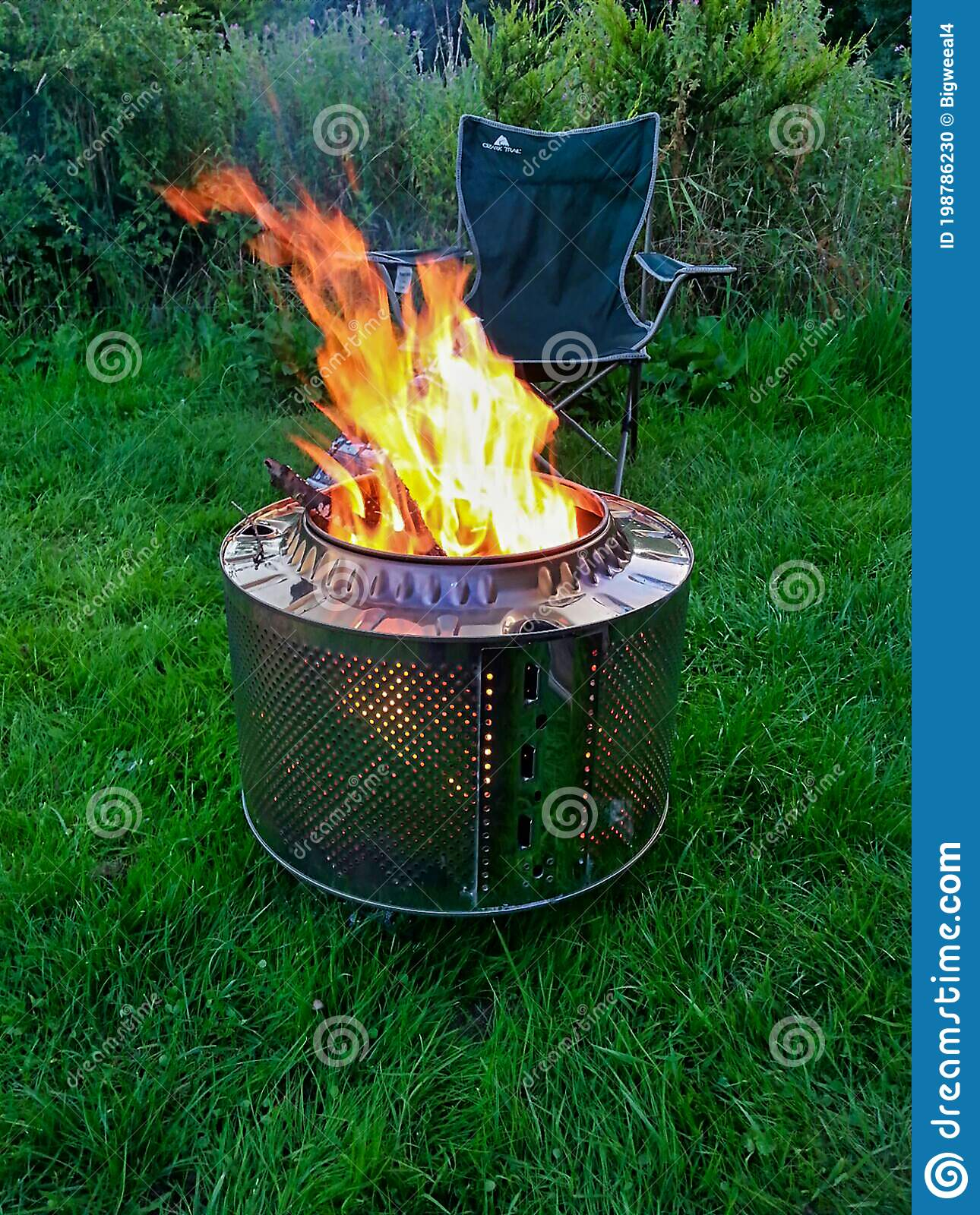 Safe Camp Fire Pit Stock Photo Image Of Fire Washing 198786230