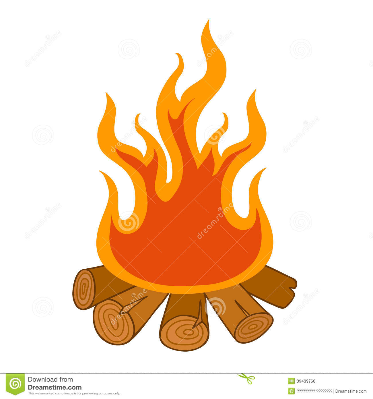 camp fire on white background stock vector illustration of burn cute 39439760. Black Bedroom Furniture Sets. Home Design Ideas