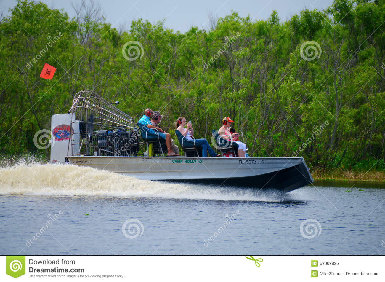 Camp Holly Airboat Ride St  Johns River In Florida Editorial
