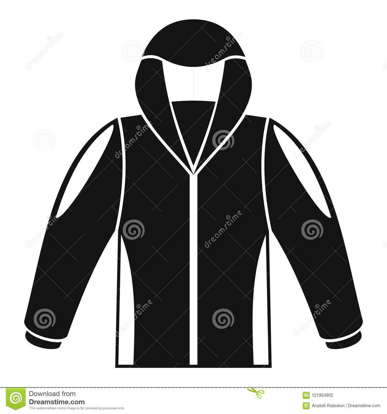 8dd294cb3c5e Camp jacket icon. Simple illustration of camp jacket vector icon for web  design isolated on white background. More similar stock illustrations