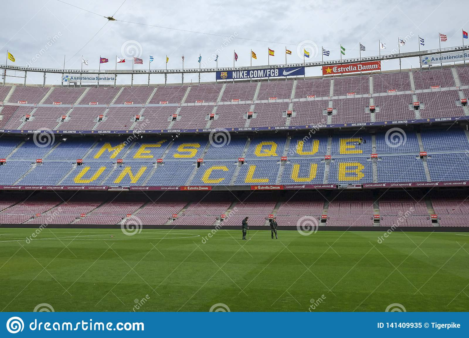 Camp Nou Stadium Barcelona Editorial Image Image Of Competition 141409935