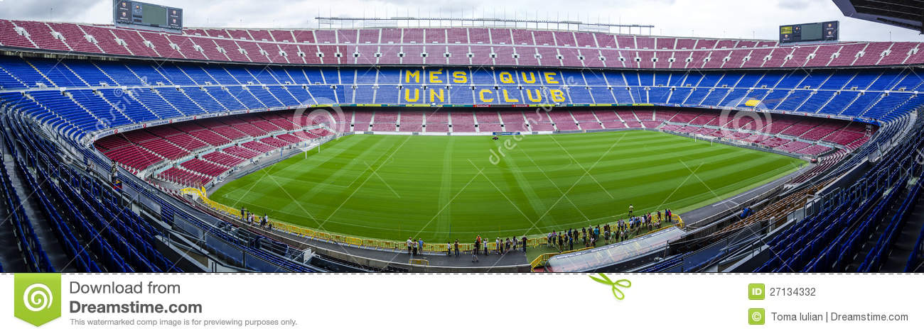 Photo of Camp Nou stadium, official stadium of FC Barcelona football ...
