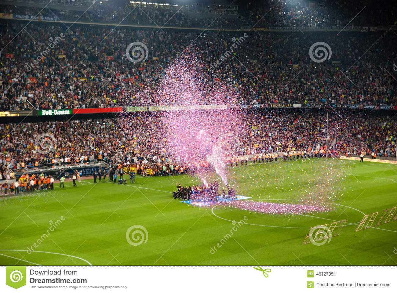 Camp Nou Stadium After The Match Against Osasuna Editorial Photo Image Of Hold Prize 46127351