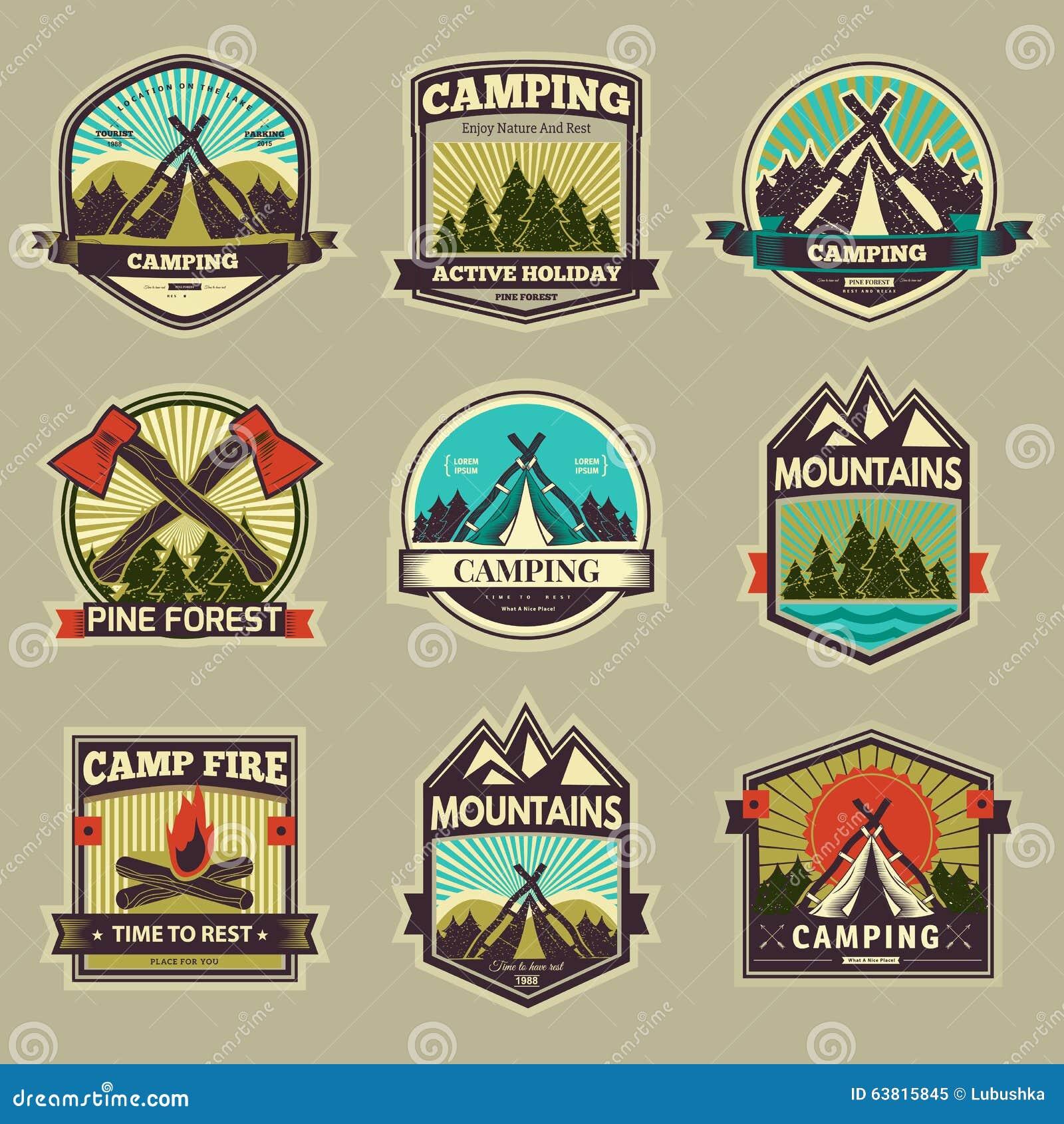 Camp vector label