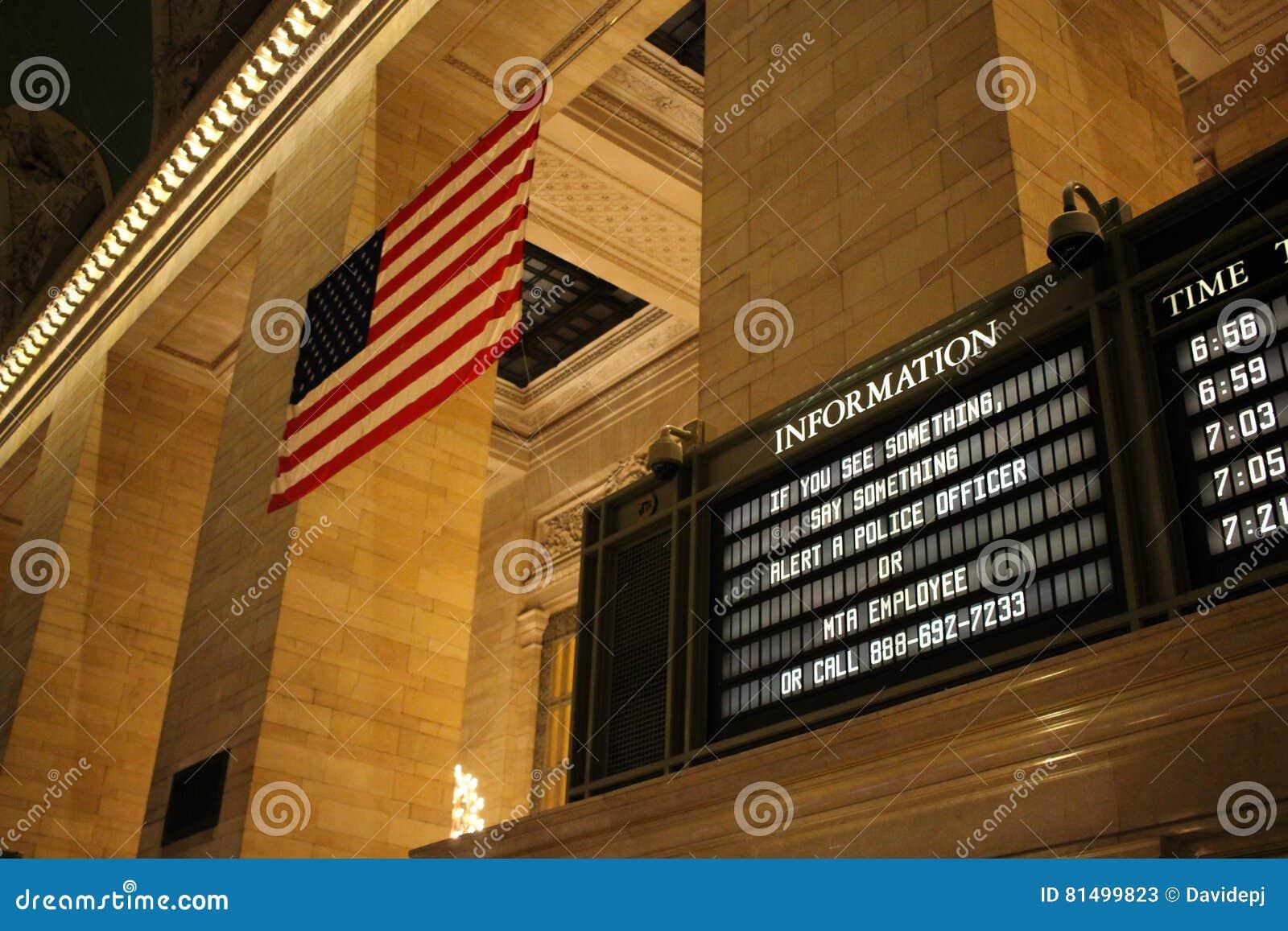 Campaña de la seguridad de patria en la estación de Grand Central