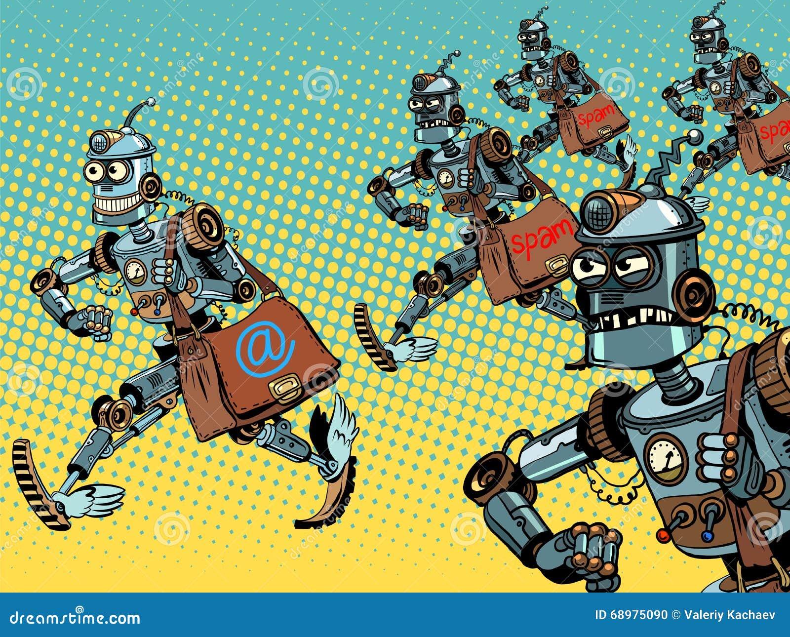 Campañas del email del cartero del robot