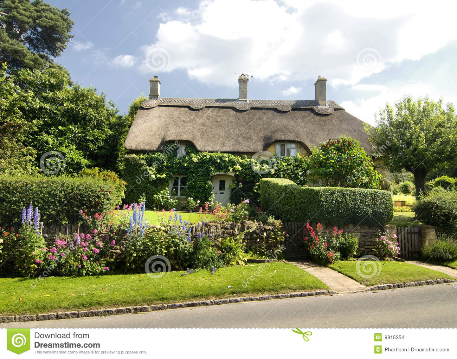Campagna Inghilterra del cottage singolare