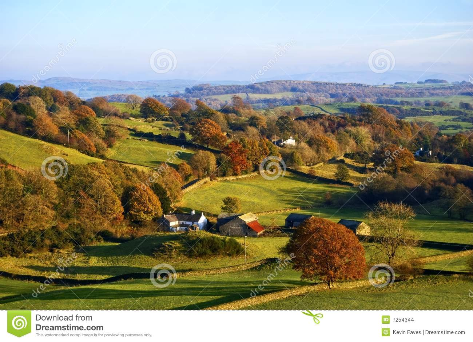 Campagna inglese di rotolamento in autunno fotografia for Piani di campagna inglese