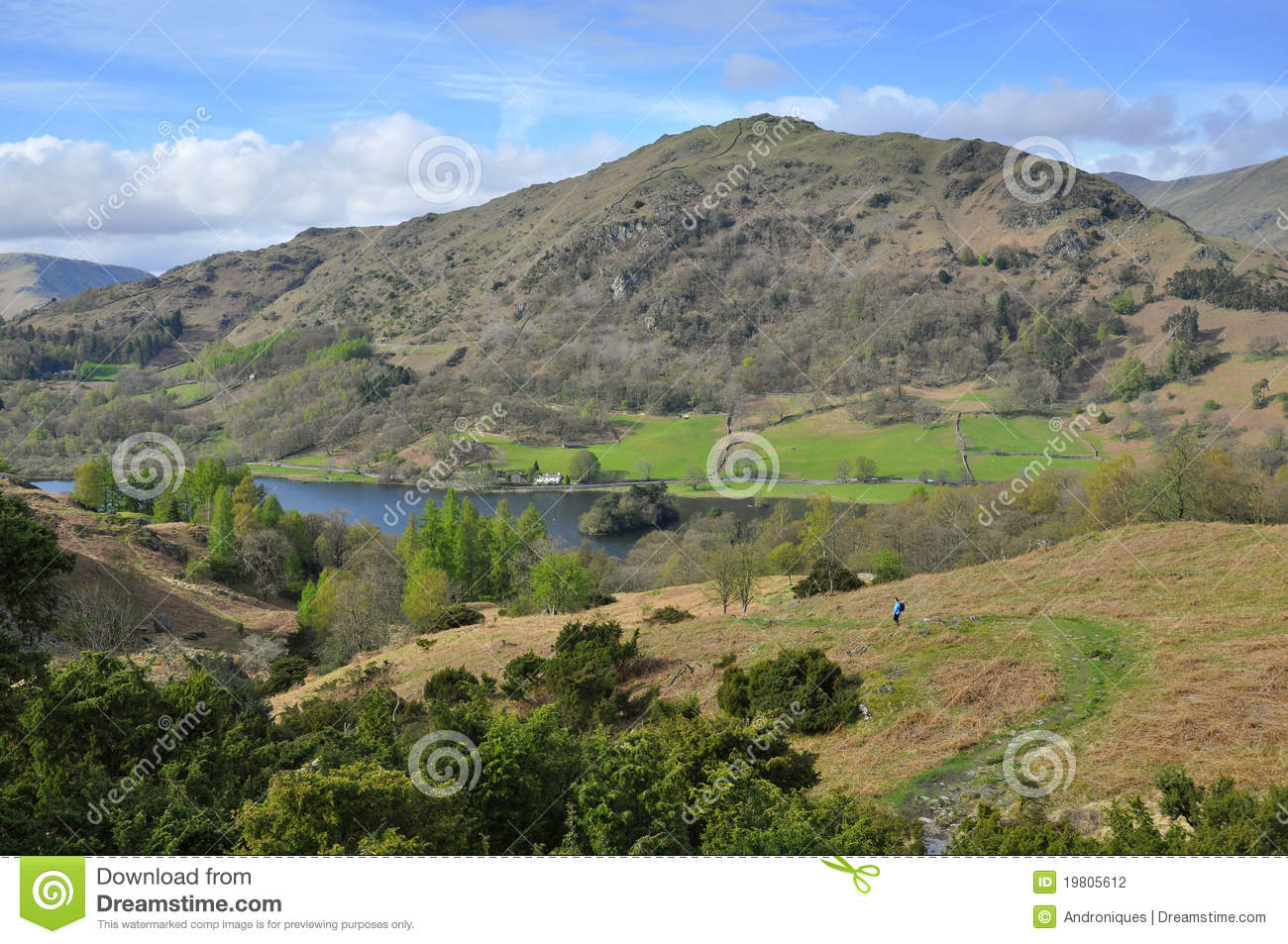 campagne anglaise journal vers le bas lac montagne photographie stock image 19805612. Black Bedroom Furniture Sets. Home Design Ideas