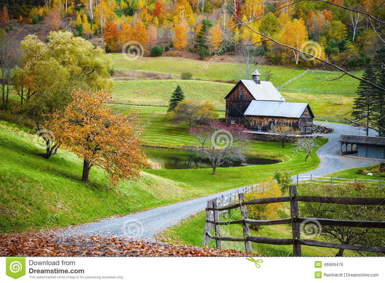 campagne de la nouvelle angleterre ferme dans le paysage d 39 automne photo stock image du ferme. Black Bedroom Furniture Sets. Home Design Ideas