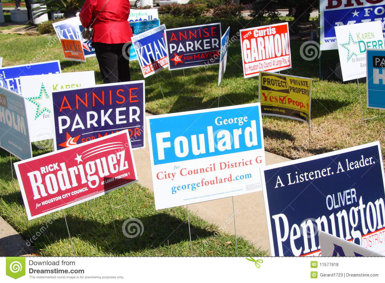 Campaign Signs At Early Voting Location In Houston ...