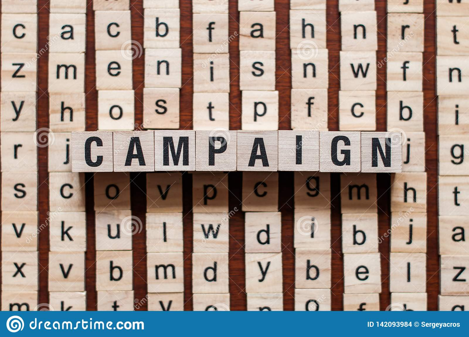 Campaign word concept