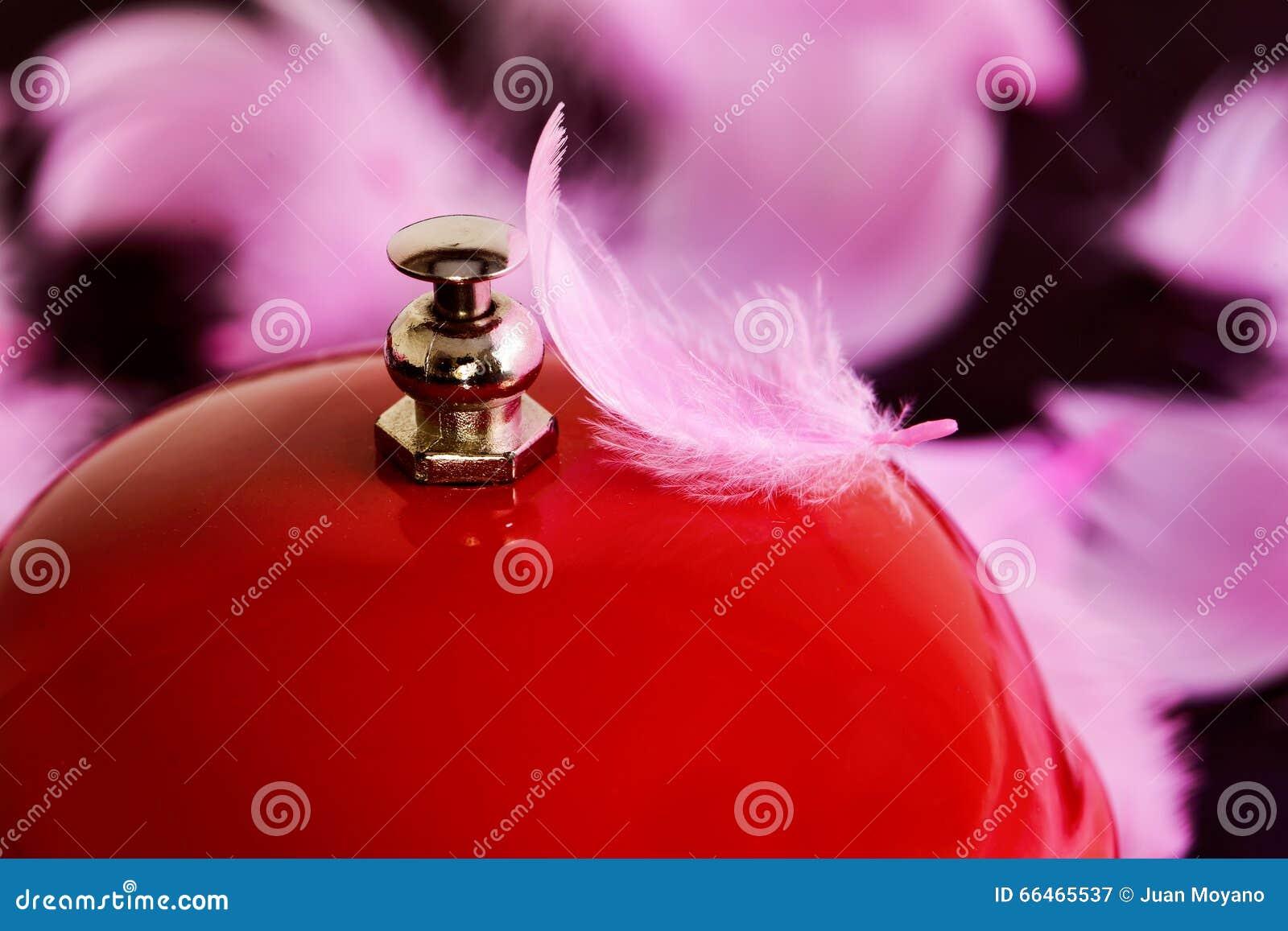 Campana e piume rosse
