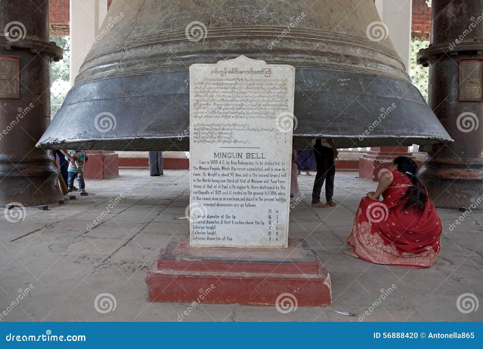 Campana Myanmar di Mingun