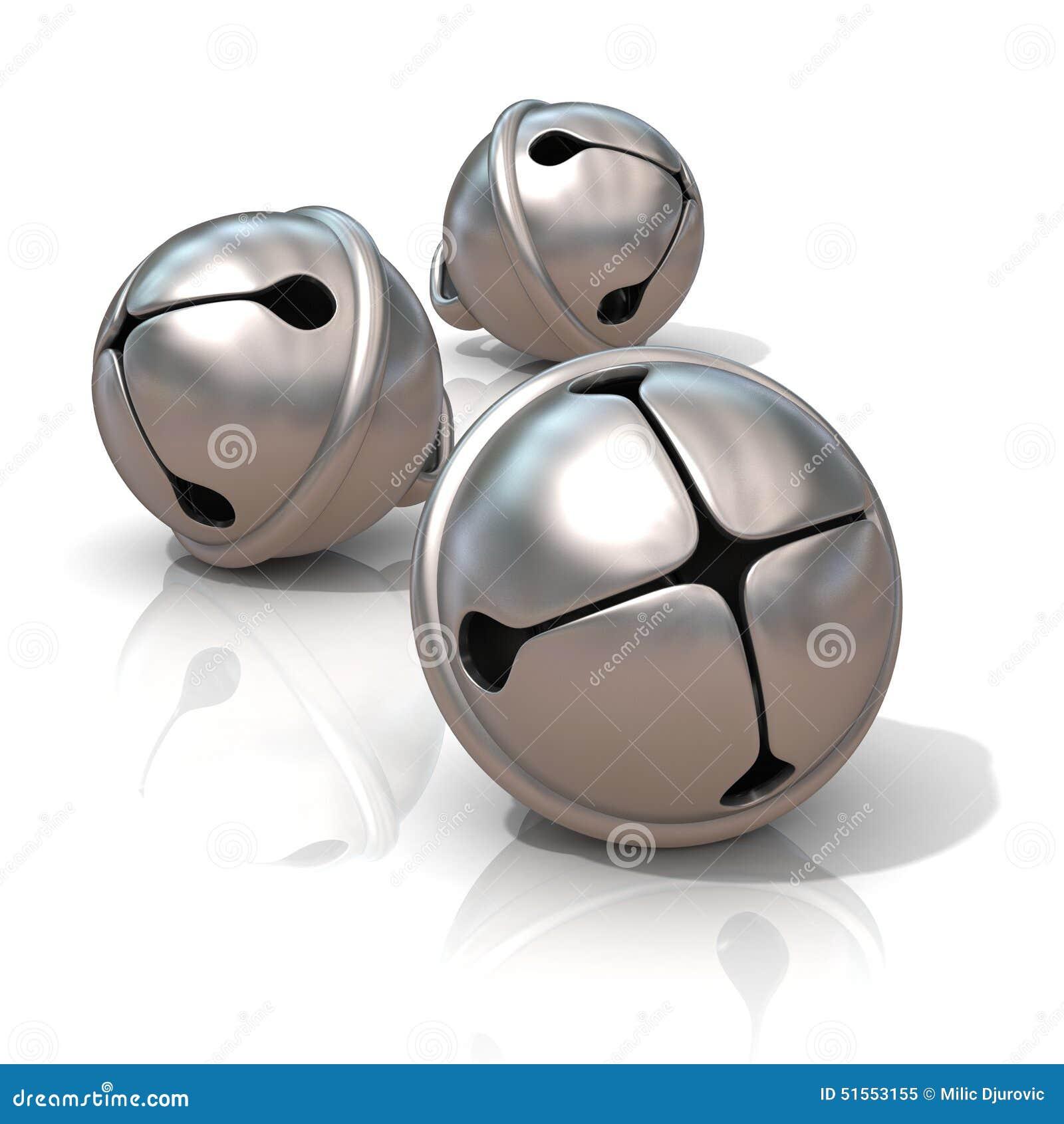 Campanas de trineo de plata