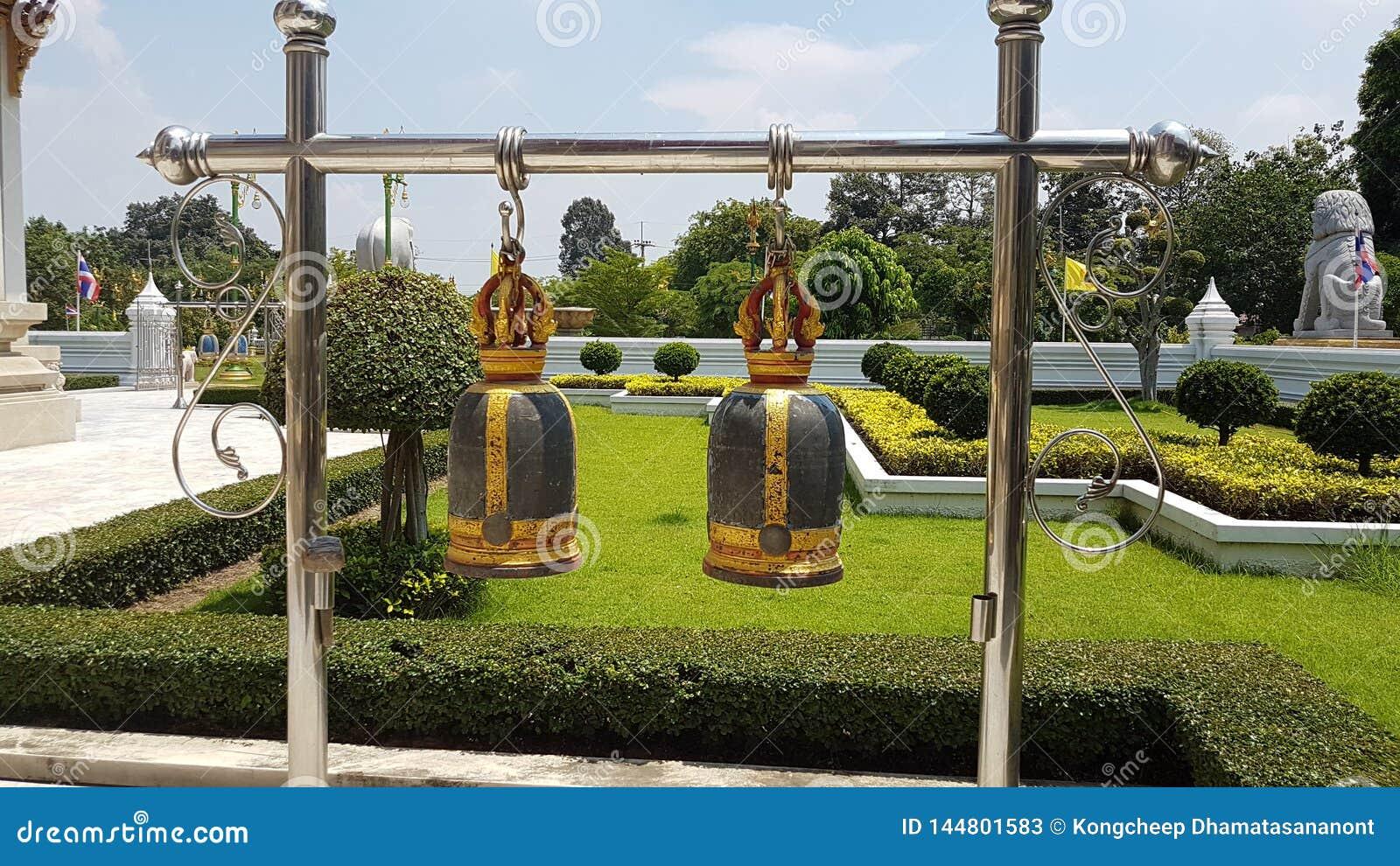 Campanas Tailandia, campanas del templo budista del templo de Buda,