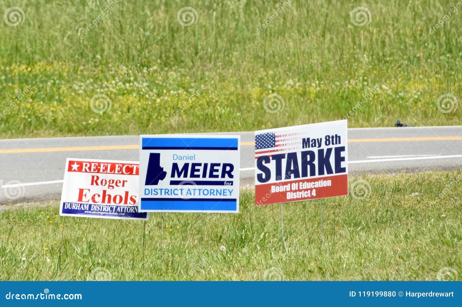 A campanha de eleições primárias assina North Carolina