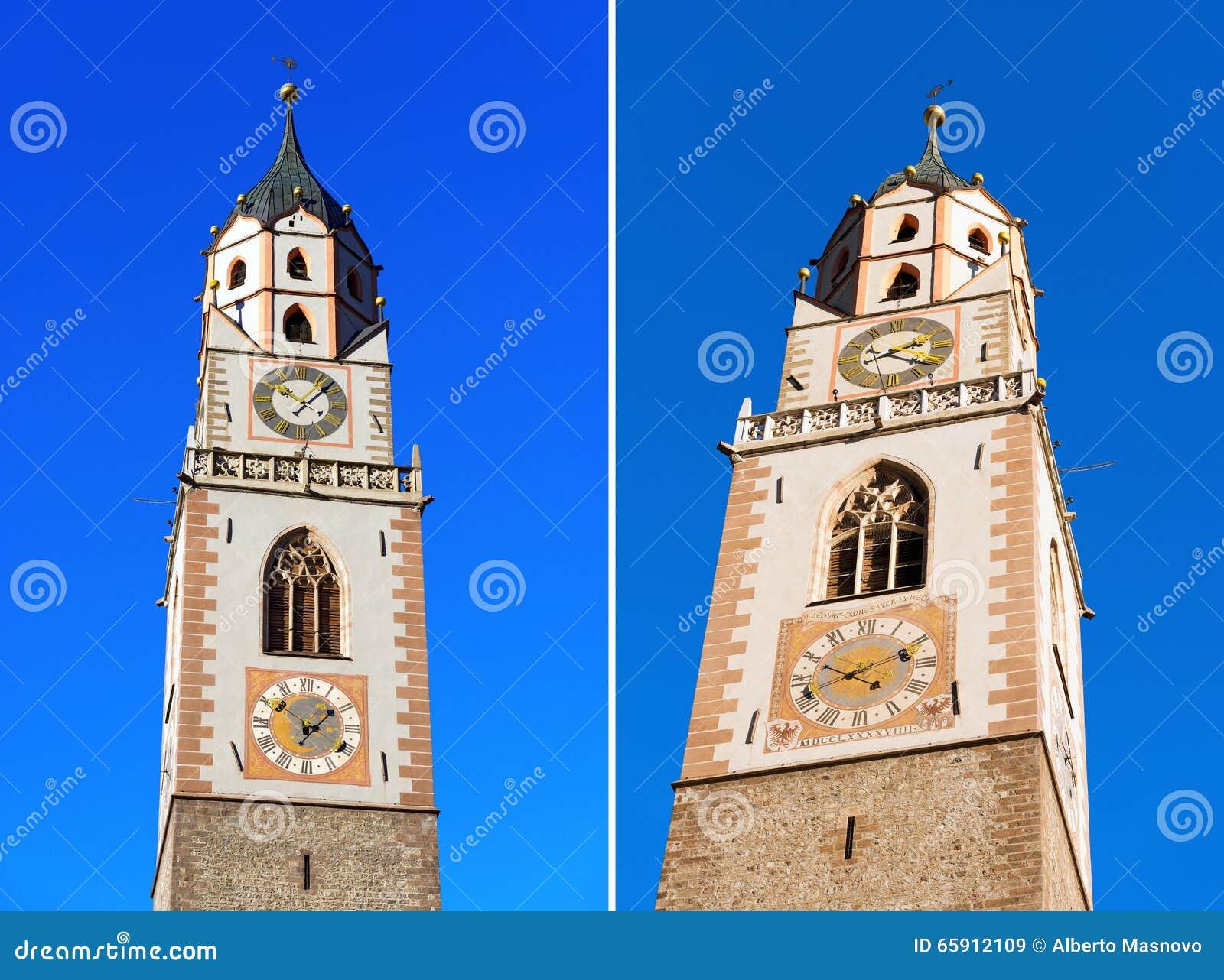 Campanile della cattedrale di Merano - l Italia