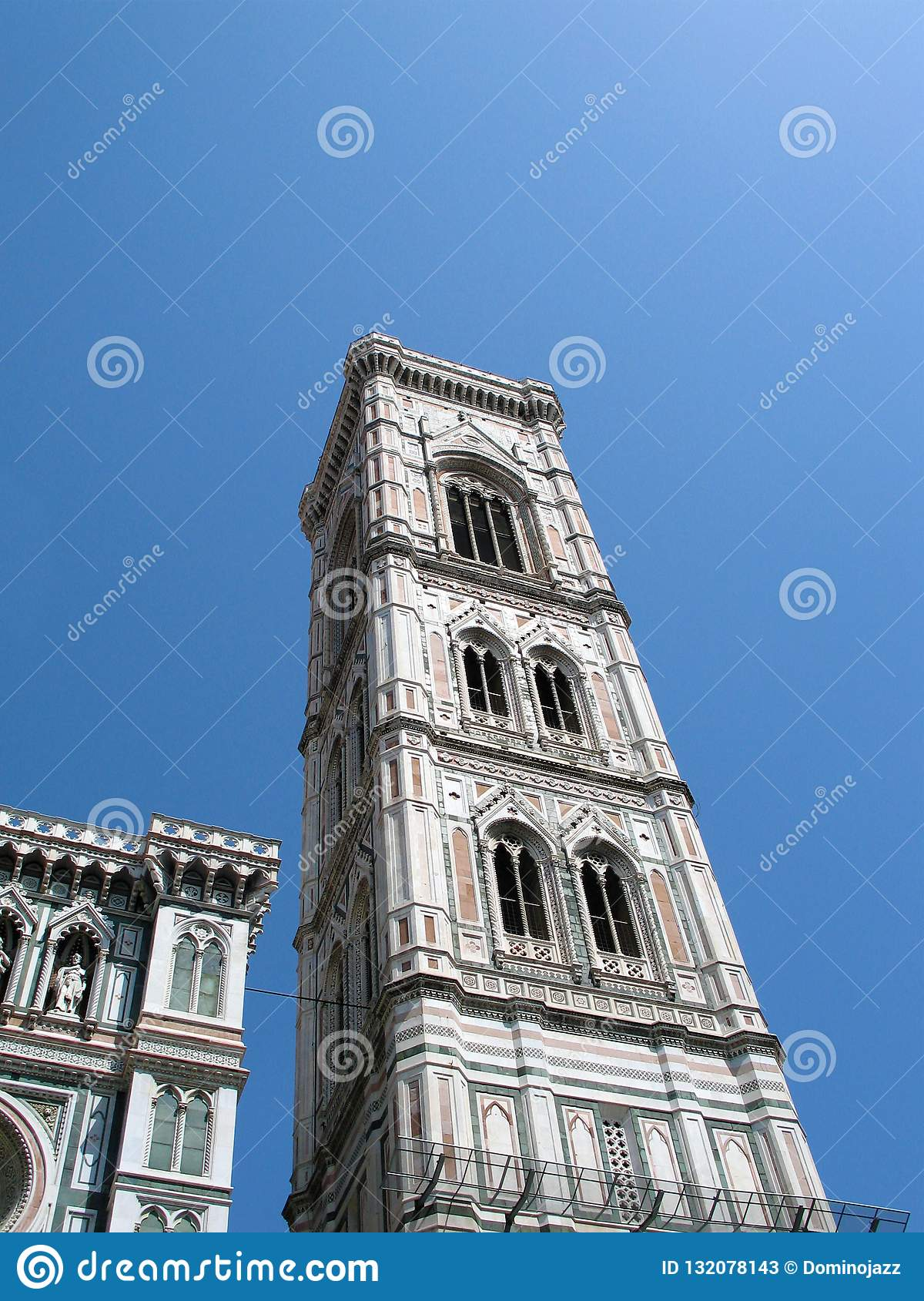 Campanile Giotto in Florence, Italy, fourteenth century masterpiece of architecture